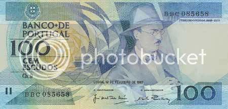Nota de 100$00, chapa 9 - Entrada em circulação em 1987. Última emissão em 1987. Retirada de circulação em 1987. * Image hosted by Photobucket.com
