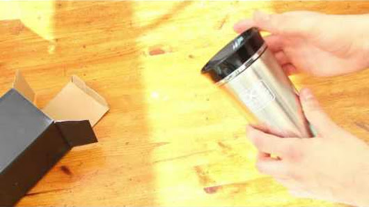 Great thermos travel mug on Amazon.co.uk - leak proof and spill proof, innova...