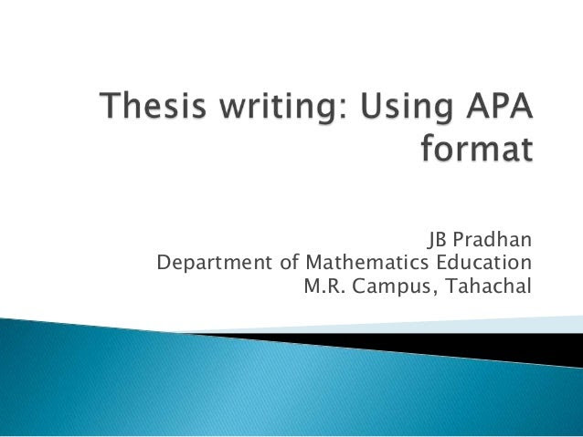 writing a thesis statement in apa style