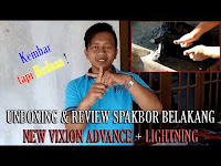 Unboxing dan Review Spakbor Belakang Yamaha New Vixion Advance + Lightning Kembar Tapi Beda