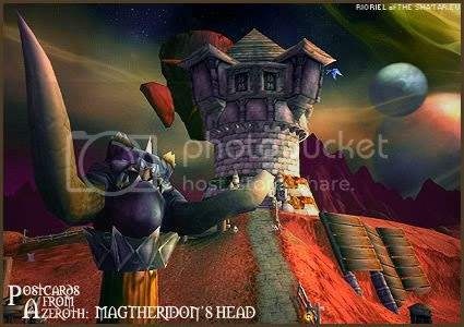 Postcards of Azeroth: Magtheridon's Head, by Rioriel of theshatar.eu
