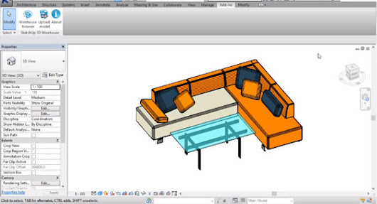 Sketchup 3d warehouse for Revit | Revit 2016 | BIM tool with 3d warehouse