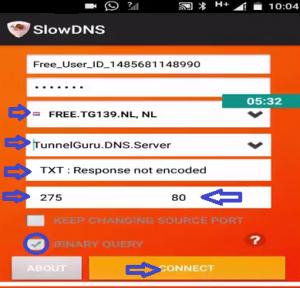 SlowDNS conexión gratis Tim 2017