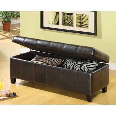 Ave Six Estrella Upholstered Bedroom Storage Ottoman | Wayfair