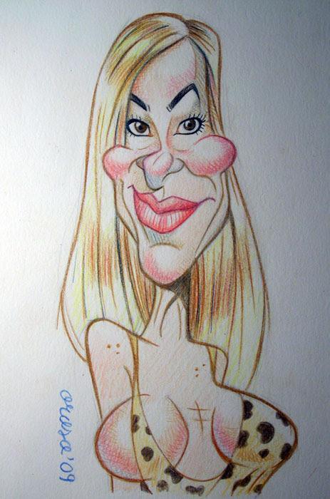 Caricatura de Ana Obregon