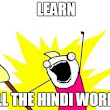 How to learn Hindi language.