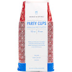 Prince & Spring Red Premium Plastic Party Cups, 152 Count