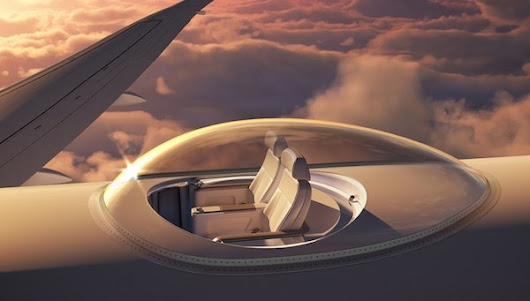 Awesome 'SkyDeck' On Top Of Airplanes Lets You Enjoy 360° Views As You Fly - DesignTAXI.com
