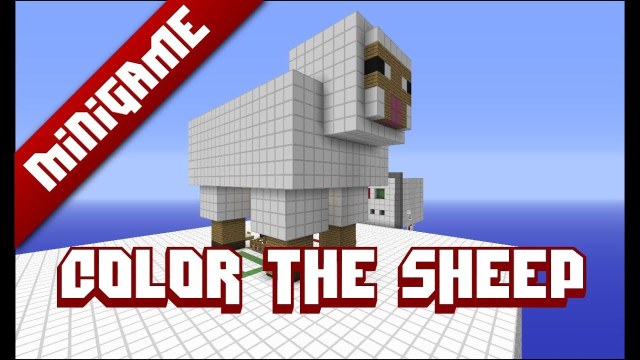 Minecraft Mini Game: Color The Sheep - YouTube