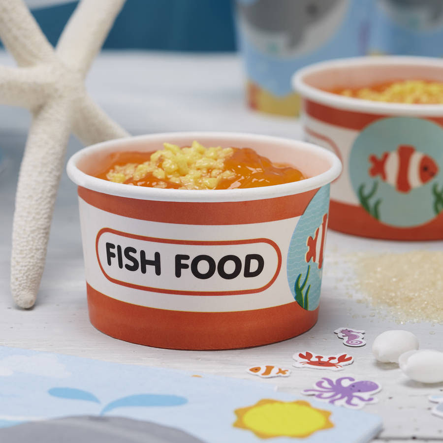 sea themed fish food party / treat ice cream tubs by ...