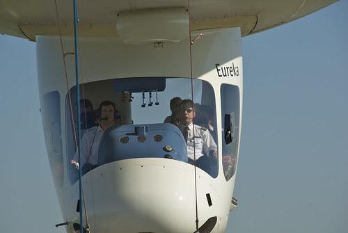 Zeppelin Eureka coming into land Long Beach Airport