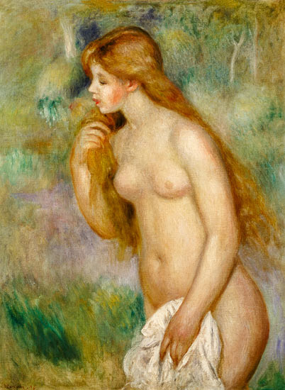 Pierre-Auguste Renoir - The taking a bath turn green in this