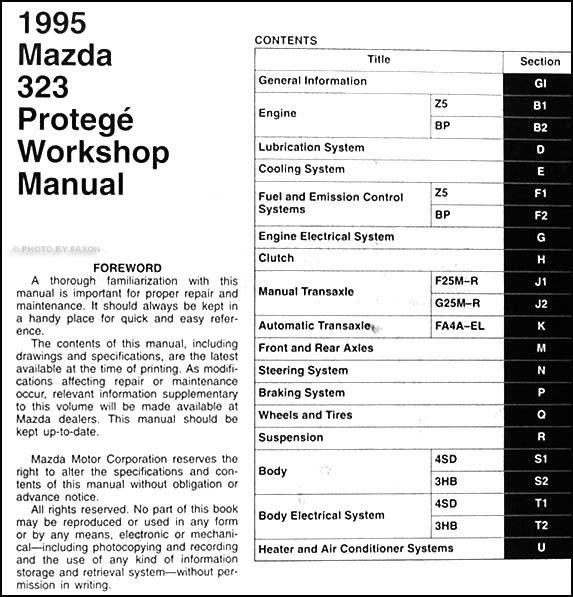 Diagram 1992 Mazda 323 Protege Service Shop Repair Manual Set Service Manualand The Wiring Diagrams Manual Full Version Hd Quality Diagrams Manual Diagramvicka Avvocatomariazingaropoli It