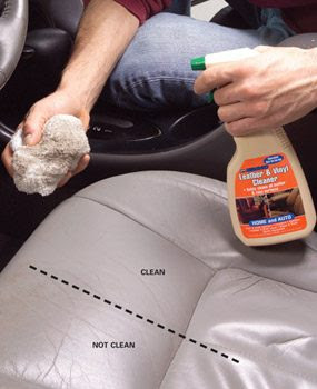 Photo 3: Clean and condition leather or vinyl
