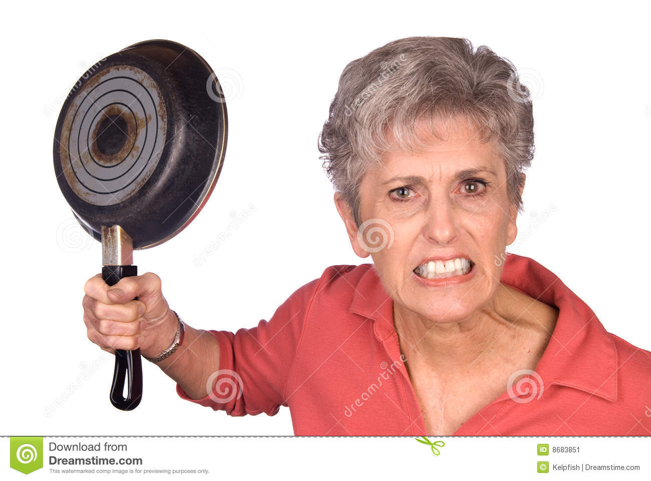 angry mother frying pan 8683851