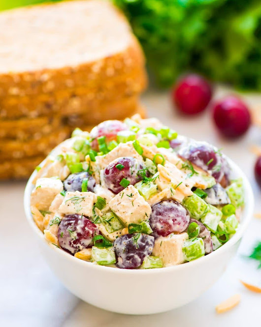 Greek Yogurt Chicken Salad with Dill | Easy and Healthy