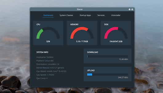 Stacer - A Linux System Optimizer You've Been  Waiting For