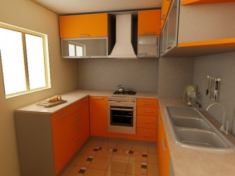 Modernas y sofisticadas cocinas en color naranja-20