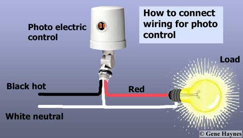 Outdoor Photoelectric Switch Wiring Diagram