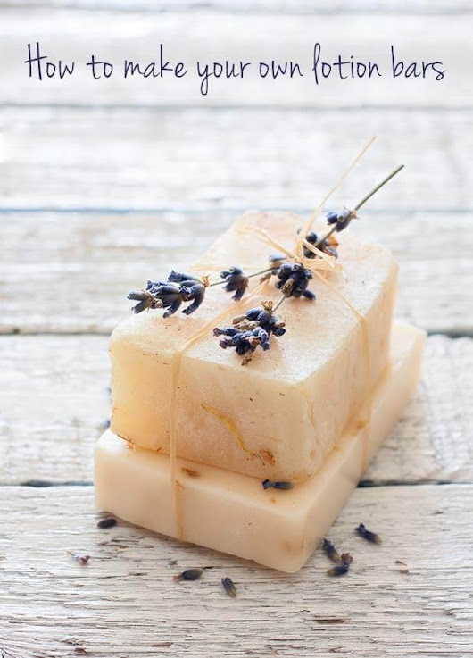 Beauty DIY: How to make lotion bars (the perfect gift for yourself or someone else!)
