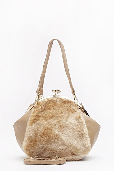 Ladies Handbags UK - Satchels, Messenger and Cross-Body  Bags. School and College Bag - Rucksacks and Backpacks, Travel and Holiday Bags |   Clip Top Faux Fur Front Bag – A GIFT! HANDBAGS – PARTY BAGS