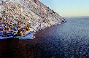Diomede (Inalik) village on the west coast of ...