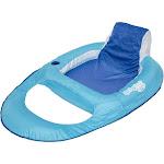 Swimways Spring Float Recliner, Light Blue/Dark Blue