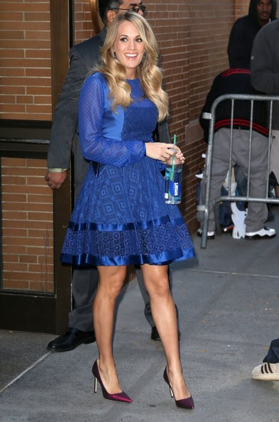 Carrie Underwood Celebrities visit ABC Studios for an appearance on 'The View' on October 27, 2014 in New York City, New York.