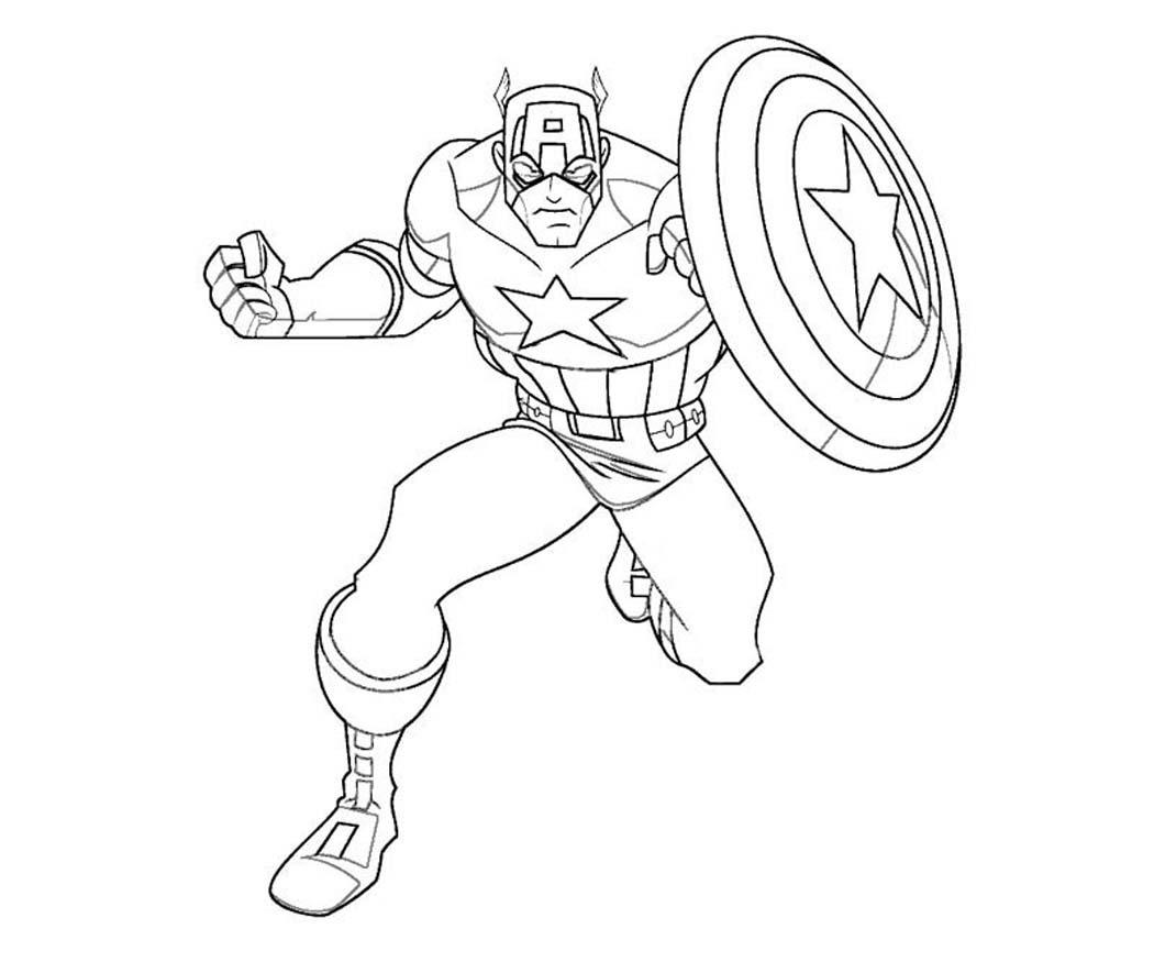 Dibujos De Capitan America Para Colorear Imagenes Para Colorear