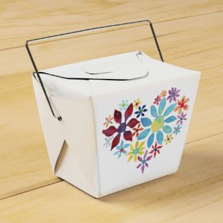 Heart of Flowers Party Favor Box