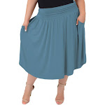 Women's and Plus Size Pocket Skirt X-Large (12-14) / Light Teal by Stretch Is Comfort