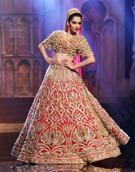 Sonam Kapoor In bridal Lehenga at India Bridal Fashion Week