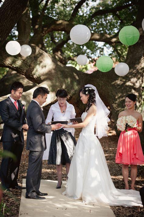 Oaktree Garden Wedding Civil Ceremony   Silver Pearl