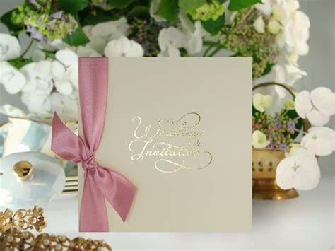 Gold Script Wedding Invitation   Wedding Invitation Gallery