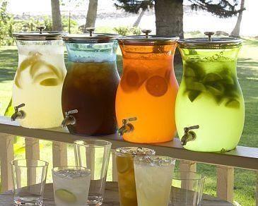Rustic wedding drinks