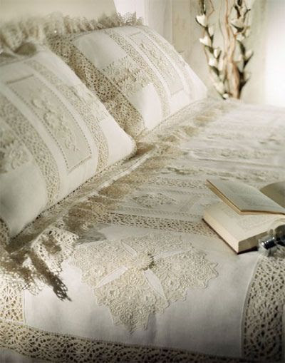 lacy-bedding by {this is glamorous}