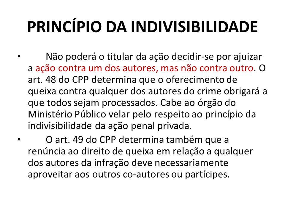 Resultado de imagem para Princípio da Indivisibilidade da ação penal
