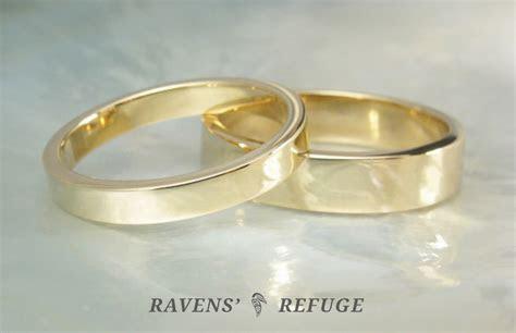 basic wedding bands ? flat gold wedding rings   Ravens' Refuge