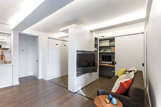 37 Square-meters Apartment With Moving Wall Design - Small House Decor