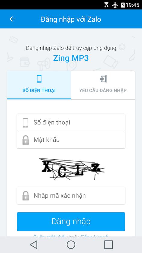 (Phải xóa ứng dụng Zalo trên máy trước rồi mới thực hiện bước này/ Hoặc  đăng xuất Zalo của bạn ra và đăng nhập TK MK Zalo của mình vào!)