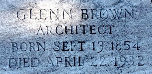 Glenn Brown (1854-1932) Gravestone (Jay Kelly)