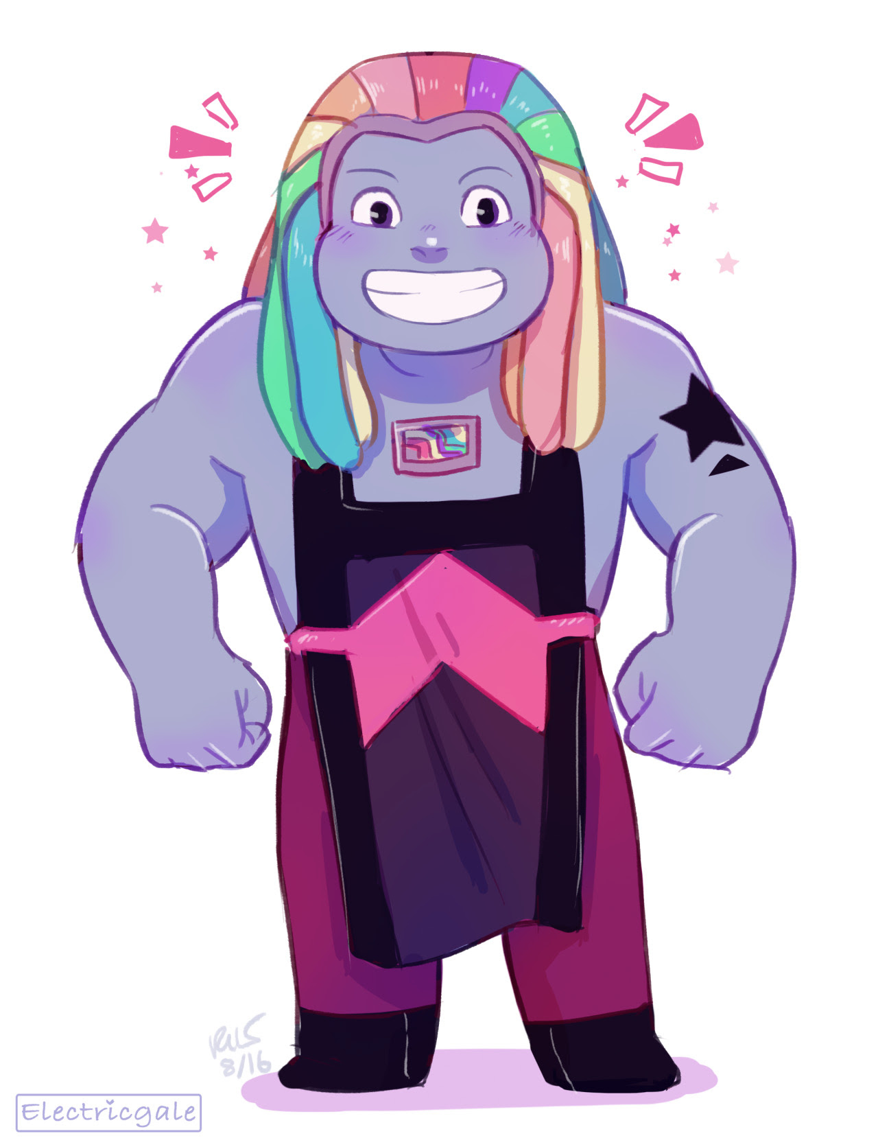 that episode was sad but bismuth's design is super cute!!