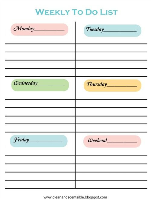 1000+ images about to do list on Pinterest | Personal organizer ...
