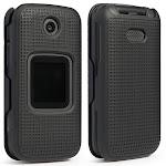 Alcatel Smartflip Case, Go Flip 3 Case, Nakedcellphone [Black] Snap-On Cover [Grid Texture] for Alcatel Go Flip 3, Alcatel Smartflip Phone (2019)