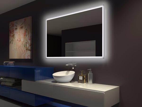 BACKLIT Bathroom MIRROR RECTANGLE 60 X 36 in - Paris mirror
