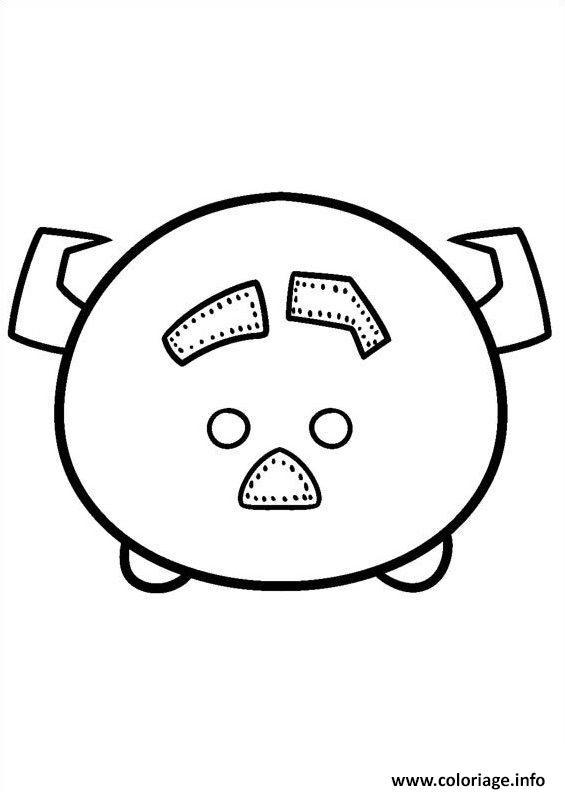 Coloriage Tsum Tsum Pig Disney Jecoloriecom