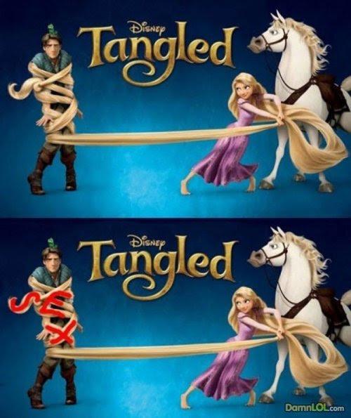 Hidden symbolism in Disney movies.