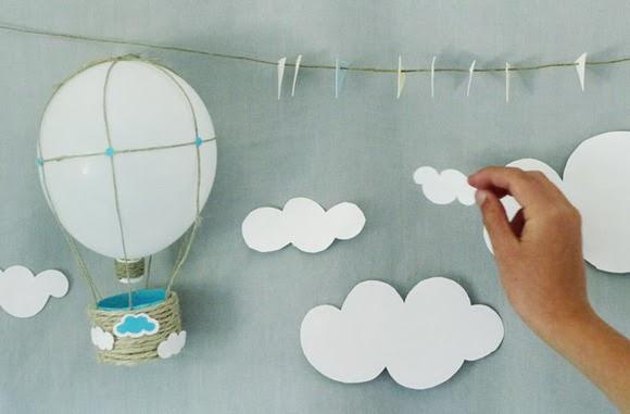Manualidades globos voladores - Trabajos manuales faciles para hacer en casa ...