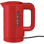 Bodum Bistro Small Electric Tea Kettle, Red, 17 oz