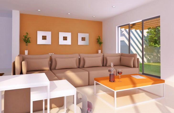 El Color Naranja En Las Paredes Casa Y Color